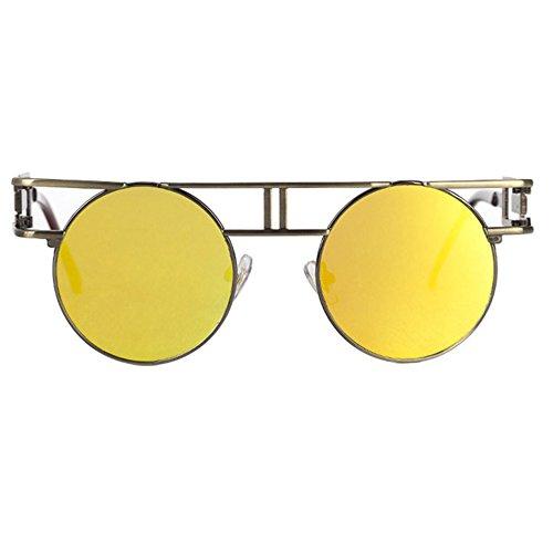 de gafas reflectante K de Gafas gafas hombre góticos brillante Dama retro de sol punk retros Aoligei sol Iwgqpa01w