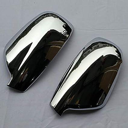 BGGPX Auto-T/ür-Seitenfl/ügel Spiegel-Chrom-Abdeckung R/ückansicht//Fit for 2004-2012 Fit for Peugeot 307 CC SW 407 Zubeh/ör 2 St/ück Color : Silver