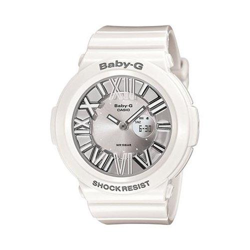 Casio BGA160-7B1 Baby-G White Neon Illuminator Gray Dial Womens Watch
