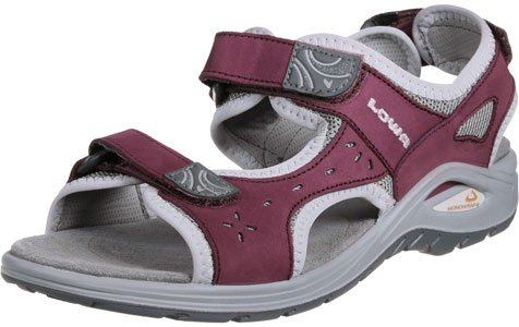 Lowa Ladies Sandal urbano WS 420371-3123 Berry/Light Gray, Gr. 36-41 rot