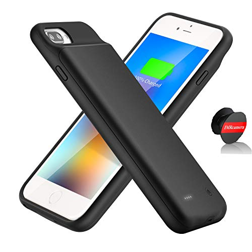 IMRcamera Extended Battery Case for iPhone 7 Plus/8 Plus, 4000mAh Protective Charging Case for iPhone 6 Plus/6s Plus Extended Backup Charger (5.5 inch)- Black