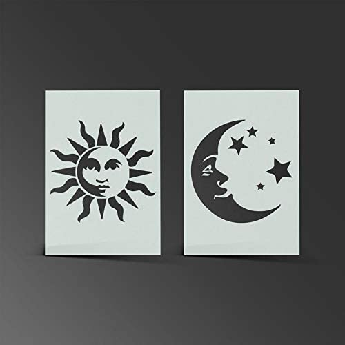 Star Pattern Stencil Card Making Wall Art Scrapbooking Airbrush Mylar 190 Micron