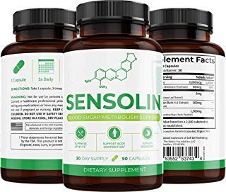 UMZU: Sensolin - All Natural Blood Sugar Lowering Supplement - 30-Day Supply - Blood Sugar Metabolism Support - Can Regulate Blood Glucose - No Artificial Fillers - Non GMO by UMZU