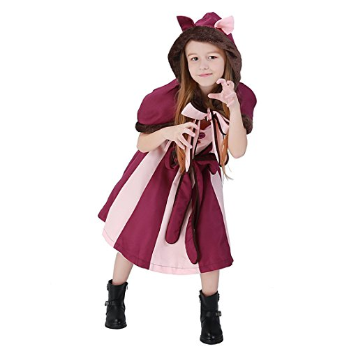 Ideas Makeup Cat Costume Halloween (modesoda Cat Halloween Party Costumes for Kids Boys Girls, Black (XL (10-11)