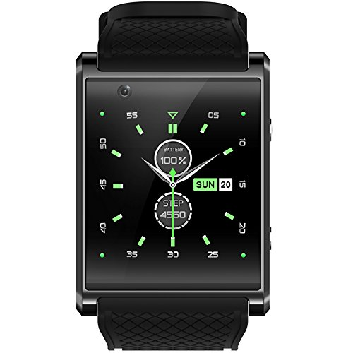 SZDLDT smart watch android smartwatch phone fitness wrist wacht android 5.1 512M+4GB 2g/3g/supported wifi (Black)