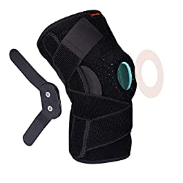 Thx4COPPER Hinged Knee Brace – Adjustable Open Patella with Straps & Side Stabilizers – Compression Support for Protection&Pain Relief – Trauma, ACL, LCL, MCL, Tears, Arthritis,Tendon, Injuries