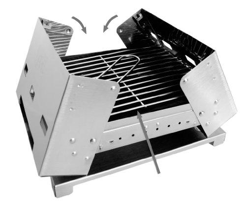 Esbit Portable Folding Charcoal BBQ Grill with Carrying Bag, Outdoor Stuffs