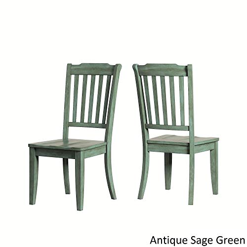 Inspire Q Eleanor Slat Back Wood Dining Chair (Set of 2) by Classic Sage Antique