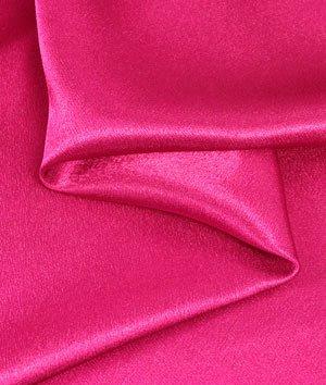 Fuchsia Crepe Back Satin Fabric - by the Yard - Pink Crepe Back Satin