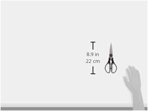 WMF Touch Küchenschere 21 cm, Haushaltsschere mit Sägeschliff,  Cromargan Edelstahl Kunststoffgriff, schwarz Rot