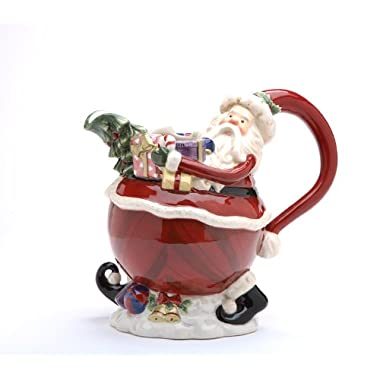 Appletree Design Santa Water Pitcher, 8-Inch Tall