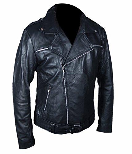 Negan Jacket Pelle Vera L'ambulante Morto Black 6WqwBnn75