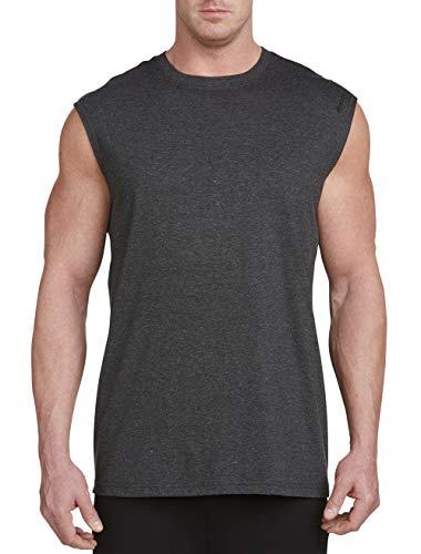 Reebok PlayDry Sleeveless Tech Top, Granite 3X (Shirt Tech Sleeveless)