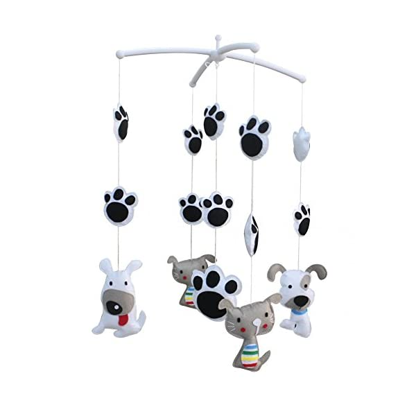 [Lovely Cat and Dog] Decorative Mobile for Baby Room/Crib, Birthday Gift