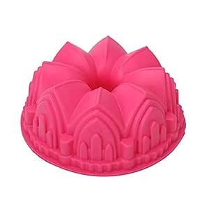 Anqeeso Molde de silicona para tartas, corona grande, moldes ...