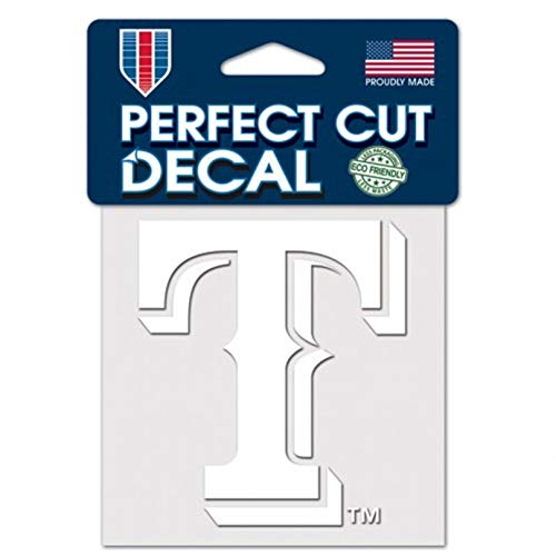 (Stockdale Texas Rangers White Logo WC 4x4 Decal Reusable Flat Vinyl Perfect Cut Baseball)