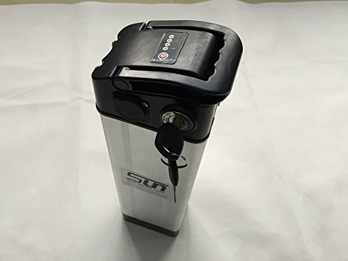 12AH 36V Li-ion Lithium Battery Aluminum Case 3A Charger BMS Recharge Power 500W Fish ebike Scooter by SUN-EBIKE (Image #1)