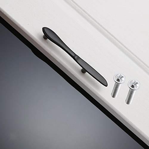 (Creative Kitchen Cabinet Door Knife Shape Pull Handle Traditional Matt Black)