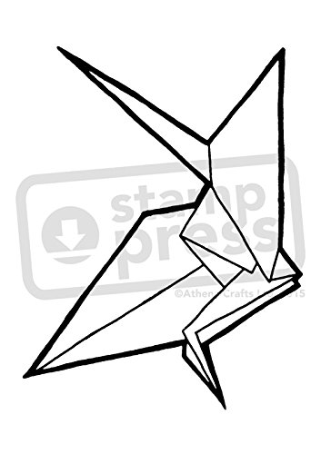 Amazon Azeeda A7 Origami Crane Unmounted Rubber Stamp