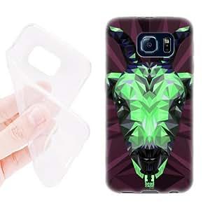 Hanifa Dirar Hadad's Shop Lovers Gifts Head Case Designs Goat Geometric Animals Soft Gel Back Case Cover for Samsung Galaxy S6 G920, Galaxy S6 Duos 3010894M96216880