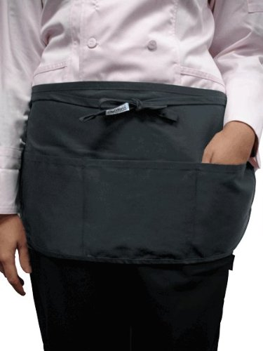 Chef Works Reversible Waist Server Apron (FREV) FREV-BLK-0