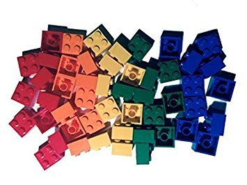 Lego 2x2 Bricks, 50 Count, 5 Assorted Colors by BrickheadCFO (Lego Assorted Bricks)