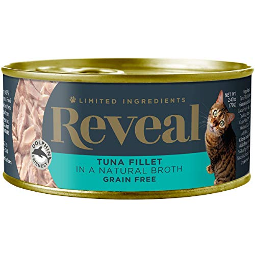 Reveal – Grain Free | Wet Canned Cat Food | 2.47oz Cans – Premium Nutrition, 100% Natural, No Additives, and Limited…