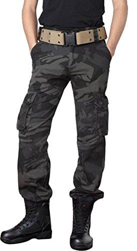 Ceinture Travail Pantalons Vintage sans B Militaire Style De Multi Cargo Combat Mileeo Homme Poches xXtRB7