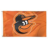 MLB Baltimore Orioles 02480115 Deluxe Flag, 3' x 5'