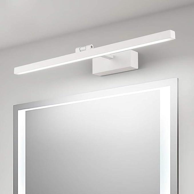 Di XFXDBT Lampada Per Quadri,led Lampada Da Specchio Per Bagno Luce Per Trucco Specchio Rotazione Di 180/° Ip44 Applique Da Parete Illuminazione Da Bagno-bianco Freddo 90cm-20w