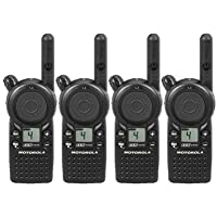 4 Pack of Motorola CLS1410 Two Way Radio Walkie Talkies (UHF)