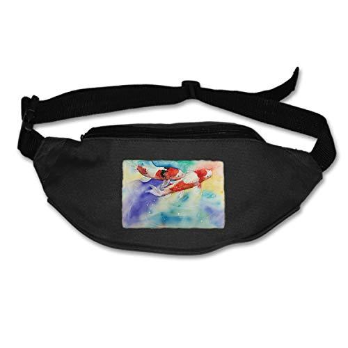 MXYG Unisex Koi Fish Fanny Pack Waist Bag Phone Holder Adjustable Running Belt for Cycling,Hiking,Gym