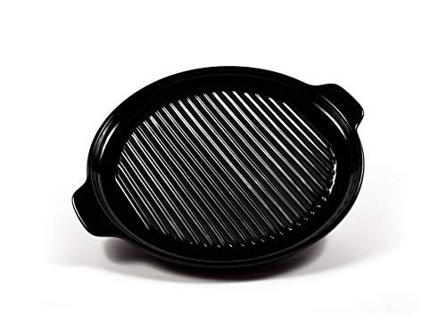 12 Inch Round Baking Pan - 100% Pure Ceramic Cookware - Ceramic Pizza and Broiling Pan by Xtrema