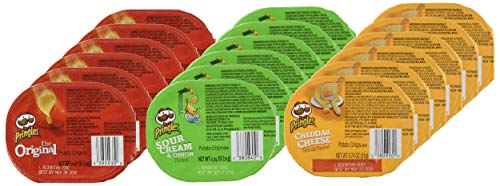 Pringles Flavored Variety Pack Potato Crisps - Original, Cheddar Cheese, Sour Cream and Onion,12.9 oz (18 Cans)