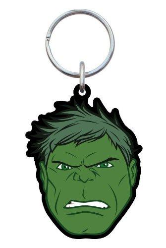 Marvel Hulk Head Soft Touch Key Ring