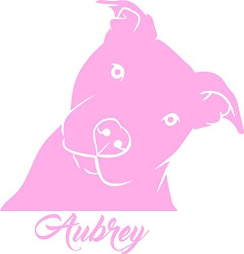(Pitbull Head Tilt Personalized Decal - Cute PITBULL Pit Bull Dog Vinyl Car Decal, Laptop Decal, Car Window Sticker … (7