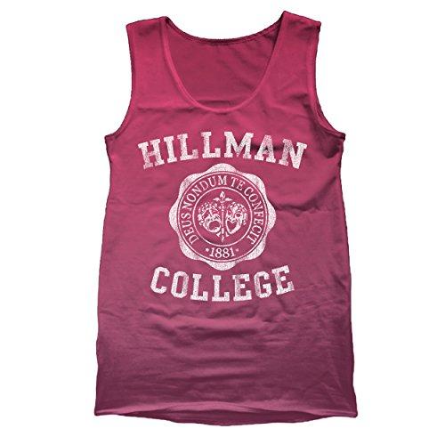 Hillman College Funny University School Retro Classic Different 80s 90s Show Humor University Emblem Funny Urban Different Cool 80s 90s Show Humor Mens Tank Top Large - Urban Fashion 80s
