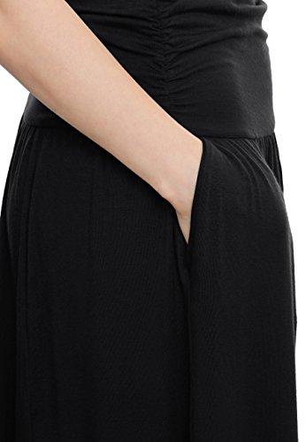TRENDY UNITED Women's Rayon Spandex High Waist Shirring Maxi Skirt With Pockets (Blk, Medium) by TRENDY UNITED (Image #4)