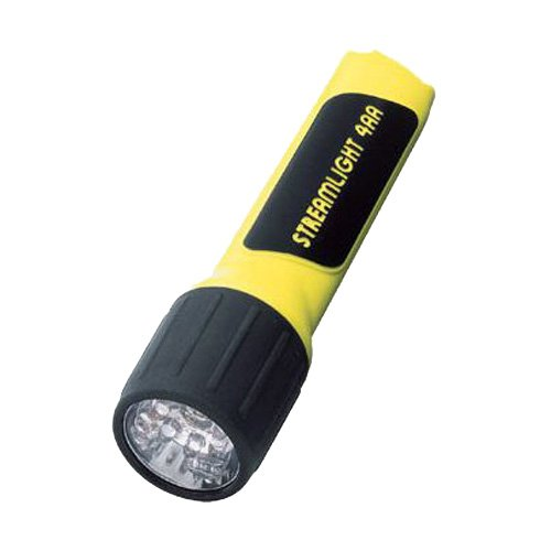- ProPolymer LED Flashlight, 4AA (Included), Yellow/Black (Black Propolymer Flashlight)