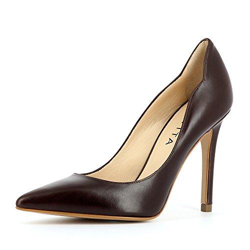 Shoes Foncé Bout Femme Fermé Escarpins Alina Evita Marron dFHqTxvOqw