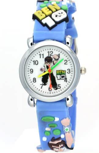 TimerMall Ben 10 Handsome Blue Band Analogue Cartoon Watches