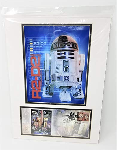 Star Wars R2-D2 United States Postal Service (USPS) First Day Issue 2007 Stamp Matted Photo-Cover