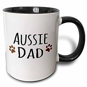 3dRose 153851_4 Aussie Dog Dad Mug, 11 oz, Black 28