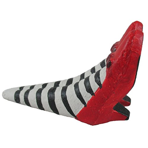 Wicked Witch Door Stopper, High Heal Shoe Wedge, Vintage Cast Iron Doorstop, Decorative Home Gift, 4x3x2 inches