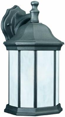 Thomas Lighting PL94627 Hawthorne 1-Light Outdoor Wall Lantern in Black