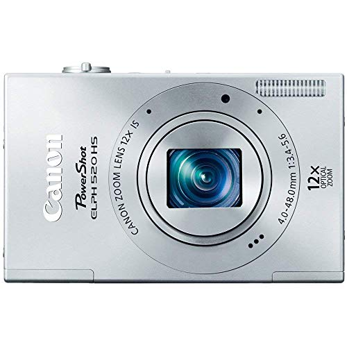Canon PowerShot ELPH 520 HS 10.1 MP CMOS Digital Camera with 12x Optical Image Stabilized Zoom 28mm Wide-Angle Lens and 1080p Full HD Video Recording (Silver)