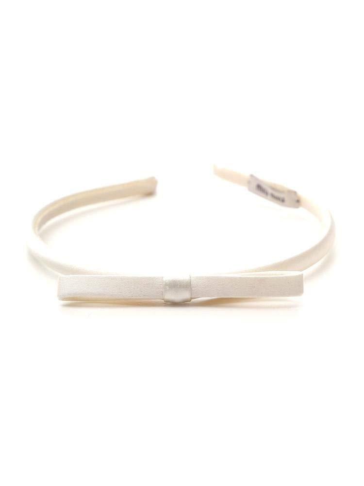 Miu Miu Women's 5Ih018049f0001 White Silk Headband