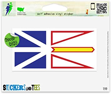 Newfoundland and Labrador Flag Sticker Decal Vinyl Canada nl province
