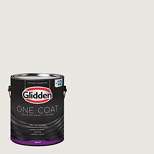 Glidden Interior Paint + Primer: White/White Interior Paint /Willow Springs, One Coat, Eggshell, 1 Gallon