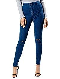 Ladies Girls Ripped Knee Skinny Jeans CA Size 2-12